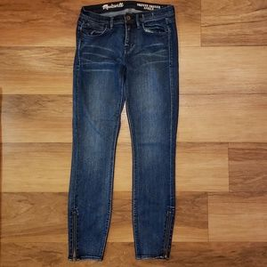 Madewell Skinny Ankle Zipper Jeans Size 26